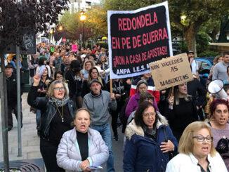 Manifestación casa de apostas Concello de Redondela A Nova Peneira