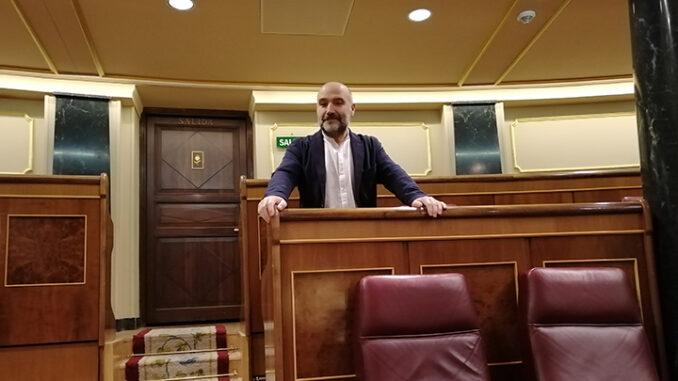 Néstor Rego No congreso dos diputados A Nova Peneira