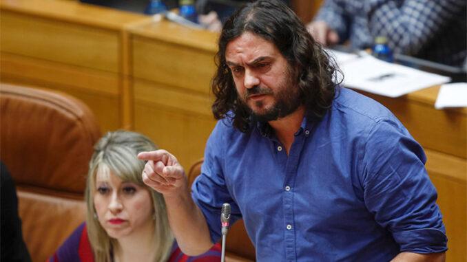 Antón Sánchez, nunha intervención no Parlamento