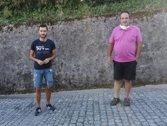 Ernesto Filgueira e Anxo Santomé Concelleiro e responsable local do BNG de Cerdedo-Cotobade