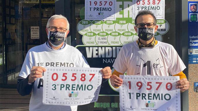 """Benjamín Martínez Ucha da administración de lotaría """"EL X de la suerte de O Porriño"""""""