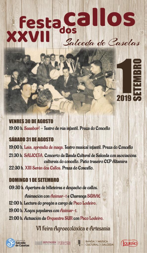 Cartel Festa XXVII dos Callos Salceda de Caselas A Nova Peneira