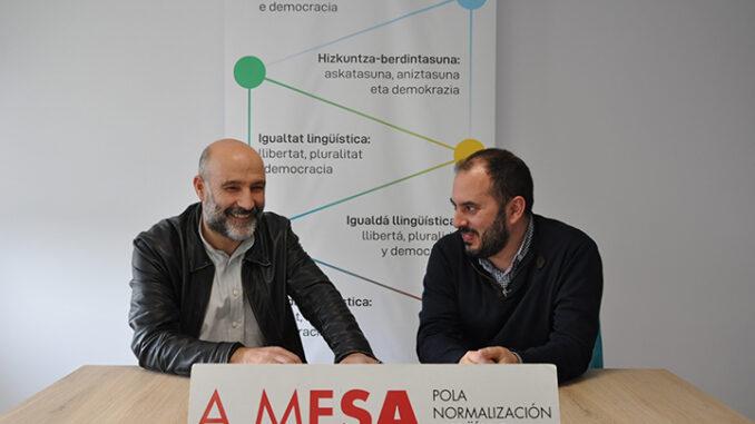 Néstor Rego y Marcos Maceiras A Nova Peneira A Mesa Normalización lingüística