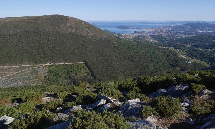 O proxecto de instalación de parques eólicos nas Serras da Groba e o Galiñeiro
