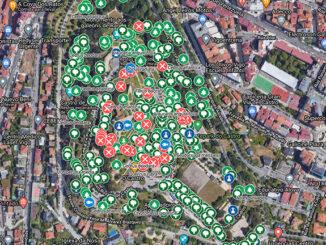 Mapa interactivo das árbores do Parque do Castro de Vigo