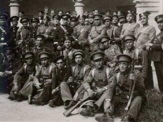 Carabineiros, gardas civís, gardas de asalto e mariñeiros da Armada, que tomaron Tui o 26 de Xullo de 1936